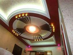 Ceiling Design Living Room, Bedroom False Ceiling Design, Living Room Designs, Roof Ceiling, Ceiling Decor, Ceiling Ideas, Gypsum Wall, Interior Design And Build, Pooja Room Design