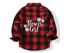 Flower Girl Flannel Shirt - Flower Girl - Ring Bearer - Ring Bearer Shirt - Flower Girl Shirt - Kid's Wedding Shirt - Wedding Shirt - Kid's