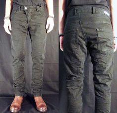 (2) X1SP Black on Black B1 Wash 13 oz. Twist Slim Tapered Denim Jeans - Versuchskind Berlin 2014 Spring Summer Mens Collection - Denim Jeans...