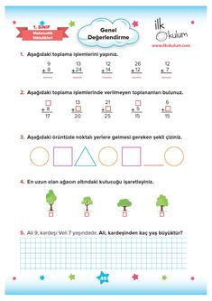 Math Addition Worksheets, Learn Turkish, Math Lessons, How To Plan, Education, Learning, Children, Corona, Boys