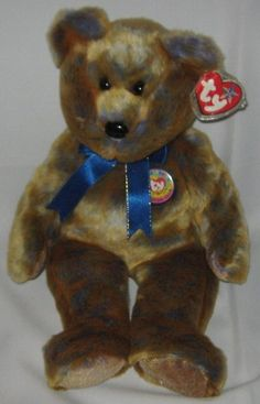 CLUBBY III the Brown Bear - Ty Beanie Baby BUDDY (buddies) - 13 inches tall 7ebcce69e101