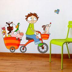 Sticker rigolo pour chambre de garçon - Serie-Golo.