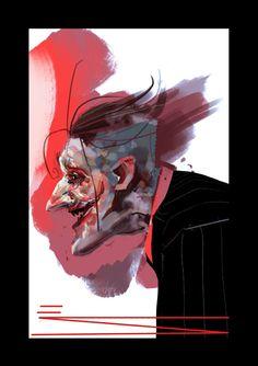 The Joker by Emanuel Simeoni Im Batman, Batman Art, Illustration Sketches, Illustrations, Joker And Harley Quinn, Comic Book Covers, Comic Book Characters, Gotham City, Comic Art