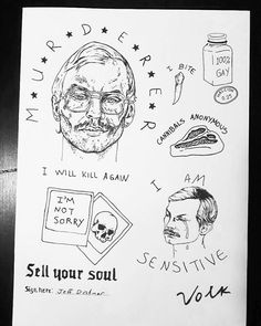 Jeffrey Dahmer Tattoos by Volk Kinetshniy Stick and Poke