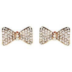 """Sparkly Bow Earrings!  """"Trendy, Unique and Affordable"""" - That is the main philosophy at Bling Boutique in Milford, MI!  Stop by our store to find some fashionable items that will spice up your wardrobe!  Visit www.downtownbling.com or call (248)  685-8449 for more information!"""