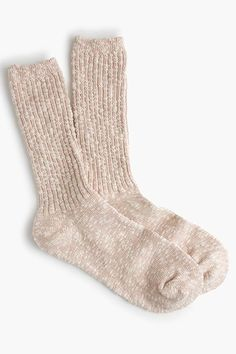 Blizzard Essentials For Every Winter Style Personality #refinery29  http://www.refinery29.com/best-blizzard-fashion-gear#slide-6  Stock up on thick, cozy socks that will keep your feet warm while kicking back on the couch or trekking through the snow.J.Crew Marled Camp Socks, $16.50, available at J.Crew....