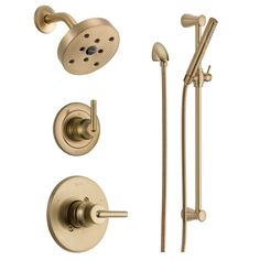 Buy the Delta Champagne Bronze Direct. Shop for the Delta Champagne Bronze Monitor 14 Series Single Function Pressure Balanced Shower System with Shower Head, and Hand Shower - Includes Rough-In Valves and save. Bar Dimensions, Shower Holder, Slide Bar, Water Heating, Shower Arm, Shower Systems, Wave Pattern, Water Supply, Bath