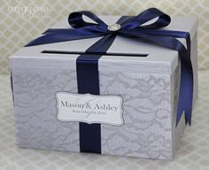 Hey, I found this really awesome Etsy listing at https://www.etsy.com/listing/262827245/wedding-card-box-silver-and-navy-blue