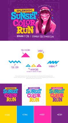 Splendido Sunset Color Run Ads Creative, Creative Posters, Creative Advertising, Advertising Design, Poster Layout, Book Layout, Graphic Design Print, Graphic Design Branding, Instagram Feed Planner