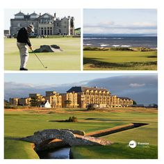 Golf Tour, St Andrews, Play Golf, Bunker, Golf Courses, Globe, Legends, Bridge, Old Things