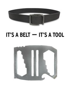 The Bison Designs Kool Tool™ Belt features a buckle that incorporates handy tools so you can make quick, on-the-go repairs.