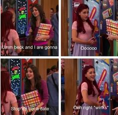 Ariana Grande from Victorious am played Cat. Love u Ariana Icarly And Victorious, Victorious Nickelodeon, The Thundermans, Drake And Josh, Nickelodeon Shows, Childhood Tv Shows, Sam And Cat, Funny Memes, Hilarious