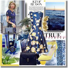 """""""yellow meets blue"""" by dian-lado on Polyvore"""
