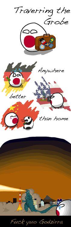 Wandering Soul: A Haiku (Japan) by Go Ice Go  #polandball #countryball