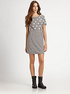 Marc by Marc Jacobs - Willa Polka-Dot Jersey Dress