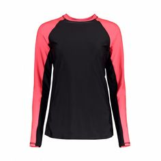 ACT101 Active Long Sleeve Rash Vest-Pink