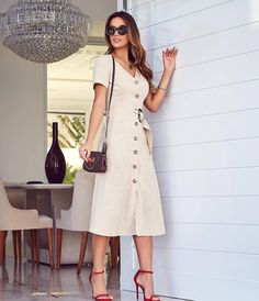 Swans Style is the top online fashion store for women. Shop sexy club dresses, jeans, shoes, bodysuits, skirts and more. Cute Fashion, Modest Fashion, Girl Fashion, Fashion Dresses, Womens Fashion, Skirt Outfits, Dress Skirt, Shirt Dress, Mode Pop