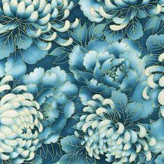 Robert Kaufman Fabric Imperial Flowers teal--has link to robert Kaufman fabric