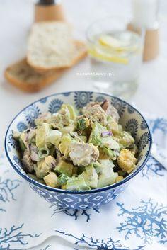 Mirabelkowy blog: Sałatka z awokado i tuńczyka Potato Salad, Food And Drink, Menu, Potatoes, Ethnic Recipes, Aga, Blog, Diet, Menu Board Design