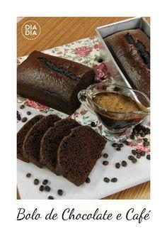 Bolo de Chocolate e Café com Calda de Capuccino. Aprenda a fazer receita de bolo de chocolate e café. #Chocolate #Doce #Receitas #Culinária #Café #Brigadeiro