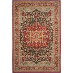 Safavieh Mahal Traditional Grandeur Red/ Red Rug (6'7 x 9'2)