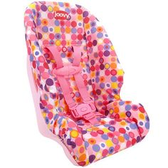 Joovy Baby Doll Toy Booster Car Seat Accessory Pink