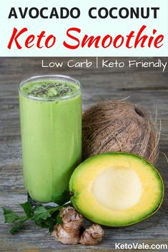 Keto Smoothie with Avocado, Coconut Milk, Spinach and Chia seeds via Keto Vale -… Keto Smoothie mit Avocado-, Kokosmilch-, Spinat- und Chiasamen über Keto Vale – Ketogenic Diet Recipes Avocado Dessert, Avocado Smoothie, Coconut Milk Smoothie, Coconut Milk Recipes, Coconut Drinks, Coconut Sugar, Keto Smoothie Recipes, Low Carb Smoothies, Apple Smoothies