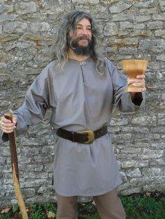 Medieval Style Tunic Top, Re-enactment Viking, LARP, Cosplay, Free-size- Grey in Clothes, Shoes & Accessories, Fancy Dress & Period Costume, Period & Theatre Costumes | eBay