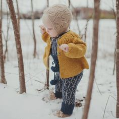 "363 Likes, 11 Comments - Miou Kids (@mioukids) on Instagram: ""Not so sure about this white stuff :) ❄️ Photo by @amelia_hambrook for #mioukids #handknitted…"""
