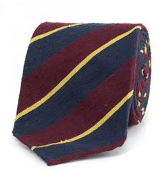 Wine Handrolled Woven Shantung Silk Tie