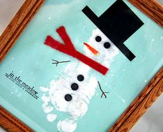 December fun... by Sherry Wright - check out the cute snowman made with a footprint