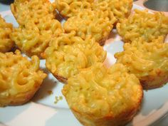 mini macaroni and cheese bites!  once you pop, you totally can't stop