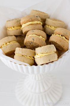 Lemon Lavender Tea Cookie Sandwiches