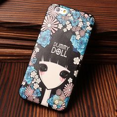 Tiger Owl Flower Girl Relief Silicone Soft Cases For Iphone 5/5S/6/6S only $18.99 in ByGoods.com!#cute #cartoon #iphone #case #tower #bygoods #bus #cover