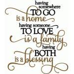 home, family, blessing - vinyl phrase