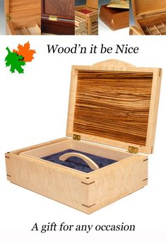 Handcrafted wood jewelry box. Quality built with premium materials to create the perfect gift for anyone, and any occasion. Built of quality domestic and imported hardwoods to ensure a lifetime of use and enjoyment. #woodbox #keepsakebox #jewelry box 5th Wedding Anniversary, Jewelry Box, Unique Jewelry, Art Fair, Wood Boxes, Keepsake Boxes, Hardwood, Etsy Seller, Nice
