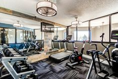 Break a sweat in our newly renovated, state-of-the-art center. Apartments, Fitness, Table, Furniture, Home Decor, Decoration Home, Room Decor, Tables, Home Furnishings
