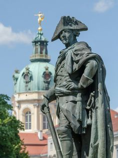 Statue of Frederick the Great in front of Schloss Charlottenburg, Berlin - Germany Frederick The Great, Frederick William, France Travel, Germany Travel, Statues, Friedrich Ii, Grand Palais, Berlin Germany, Europe