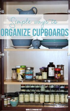 Simple Ways to Organize Cupboards via Clean Mama