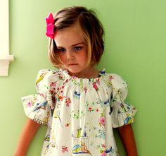 Such a sweet dress, I want this fabric!