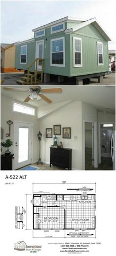 17 Do it Yourself Tiny Houses with Free or Low Cost Plans - 17 Do it Yourself Tiny Houses with Free or Low Cost Plans by Recreational Resort Cottages and Cabins House 2, Tiny House Cabin, Tiny House Living, Tiny House Design, Small House Plans, House Floor Plans, Tiny Home Floor Plans, Tiny Guest House, Condo Living