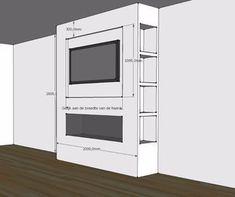 Schets Bellfires Horizon Bell XL3 Living Room Decor Fireplace, Fireplace Tv Wall, Build A Fireplace, Fireplace Built Ins, Fireplace Remodel, Modern Fireplace, Fireplace Design, Fireplace Ideas, Feature Wall Living Room