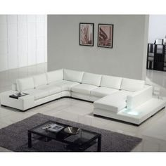 Ultra modern sectional sofa with built-in light #modern #furniture