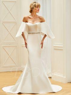 TBDress -  TBDress Sweetheart Beading Sash Mermaid Wedding Dress -  AdoreWe.com Tärnklänningar f908bb7fdefeb