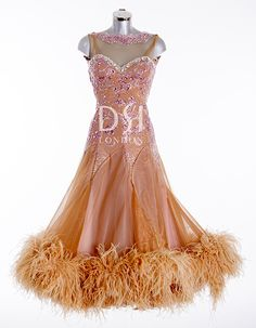 8c3feded84f63c Tan Ballroom Dress as worn by Frankie Bridge on Strictly Come Dancing 2014.  Designed by