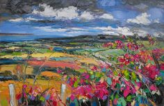 Judith Bridgland - Fuschia Hedges looking across to Fair Head