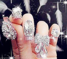 Trendy Nail Polish: Glamorous Nail Art - Inspiring & lovely Nail Polish with Cute Nail Polish,Crystal Nail Polish,Pink Nail Polish, Love it!...