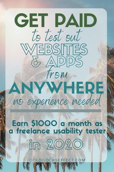 User testing is one of my all-time favorite side hustles. When freelancing as UX tester you can work from home (work anywhere in the world!) set your own hours & earn up to $60/hr giving honest feedback. I typically earn an extra $1000 month with usability testing. These are my favorite (& top paying) sites hiring freelancers to work from home in 2020. A typical UX test is $10 for about 10 minutes of your time. #uxtest #usabilitytesting #testingtime #userlytics #usertesting #userfeel…
