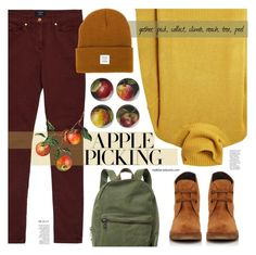 """Apple Picking ★ Top Set"" by mylkbar ❤ liked on Polyvore featuring GANT, Joseph, Williams-Sonoma, Herschel Supply Co., Barneys New York, polyvorecommunity, polyvorecontest and applepicking"