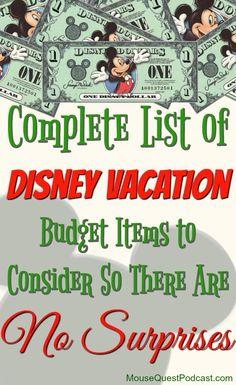 Disney Vacation Budget / Walt Disney World / #Budget / #Finance / #Travel